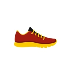 Red sneaker icon flat style vector image vector image