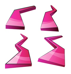 Abstract pink composition celebration design vector