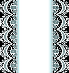 background with stripes of lace vector image vector image