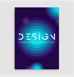 brochure cover geometric design a4 size template vector image vector image