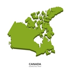 Isometric map of canada detailed vector