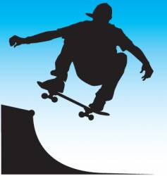 skater front side air vector image