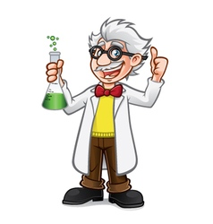 Cartoon Professor Thumb Up vector image