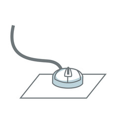 Computer mouse icon equipment technology vector