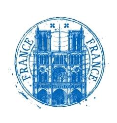 France logo design template Shabby stamp vector image