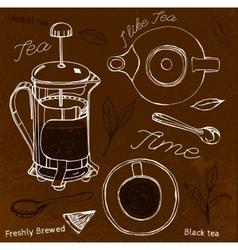 Hand Drawn Tea vector image