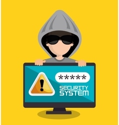 security system password hacker vector image