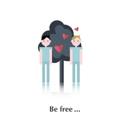 Two gay people vector image