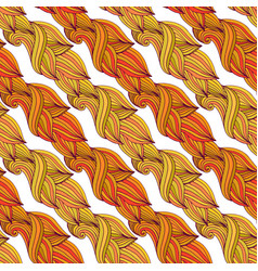 autumn seamless pattern in yellow and orange vector image vector image