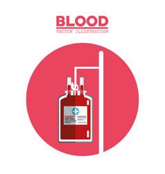 blood bag transfusion symbol vector image vector image