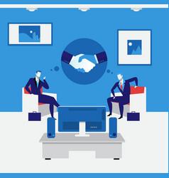 business people handshake concept vector image