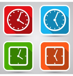 Clock icons collection vector image