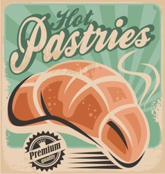 Hot pastries vector image vector image
