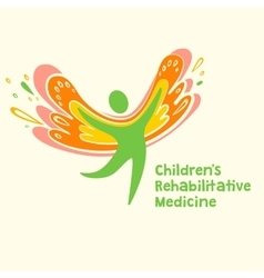 logo depicting the silhouette of a healthy vector image