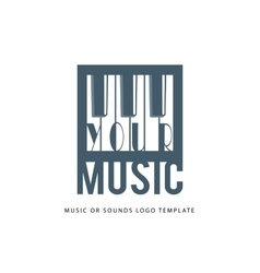 Music logo template vector image vector image