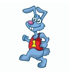 Rabbit running t-shirt design for kids vector image