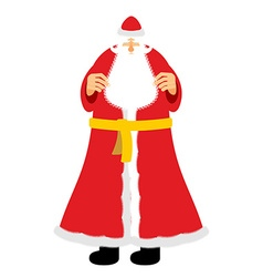 Russian grandfather Frost equivalent of Santa vector image vector image