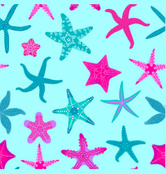 sea stars seamless pattern marine and nautical vector image vector image