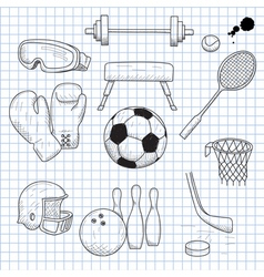 sports equipment vector image vector image