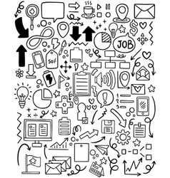 0010 hand drawn doodle elementals businesses vector