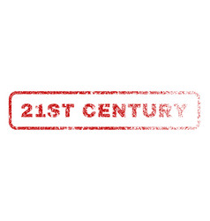 21st century rubber stamp vector
