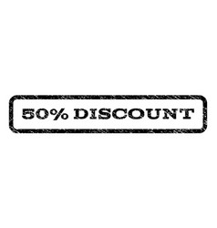 50 percent discount watermark stamp vector