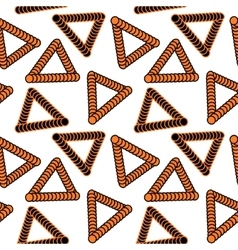 Abstract pattern of orange triangles vector