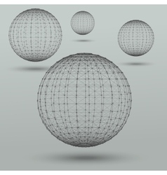 Abstract polygonal spheres vector