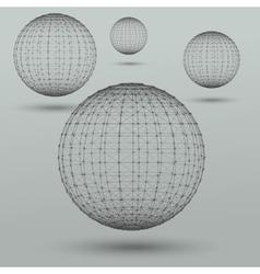 Abstract polygonal spheres vector