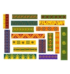 African ethnic ornaments and decorative patterns vector image