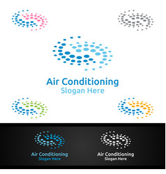 Air conditioning and heating services logo vector