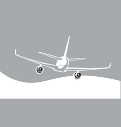 airliner in the sky vector image