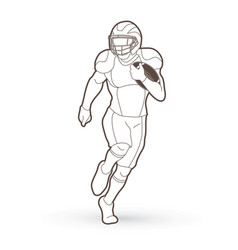 American football player action sport concept vector