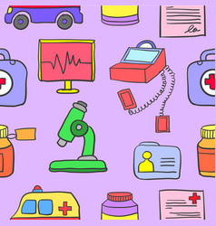 Art of medical doodle set vector