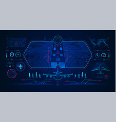 aviation interface vector image