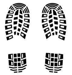 Black footstep background vector