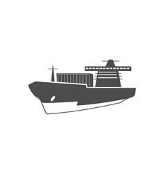 cargo ship ocean delivery sea transport symbol vector image
