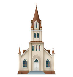 christian church vector image