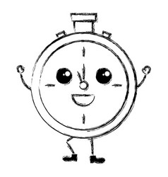 Chronometer timer kawaii character vector