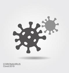 Corona virus cells sign flat vecror icon wint vector