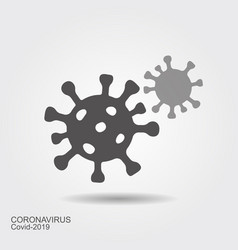 corona virus cells sign flat vector icon wint vector image