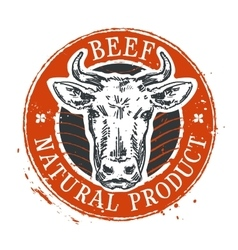 Cow logo design template beef or farm icon vector