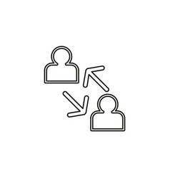 Coworking concept line icon element vector