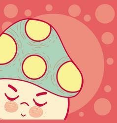 cute mushroom cartoon vector image