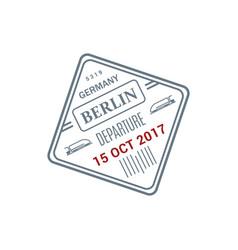 departure visa to germany berlin vector image