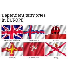 Dependent territories flag collection vector
