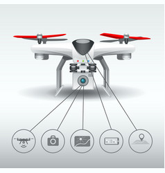 Drone quadrocopter options vector