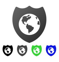Earth shield flat gradient icon vector
