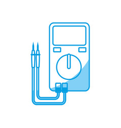 electrical test meter icon vector image