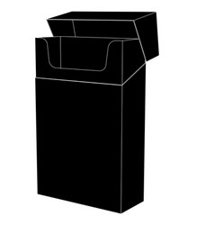 empty pack cigarettes black flat icon vector image